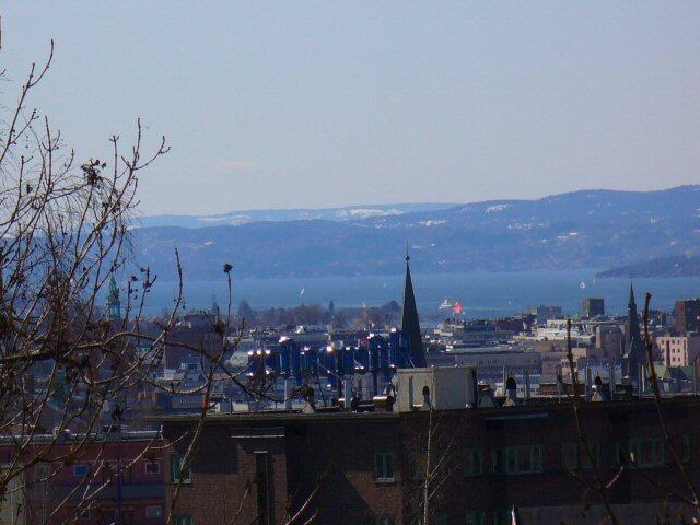Vue sur le fjord d'Oslo depuis ma chambre