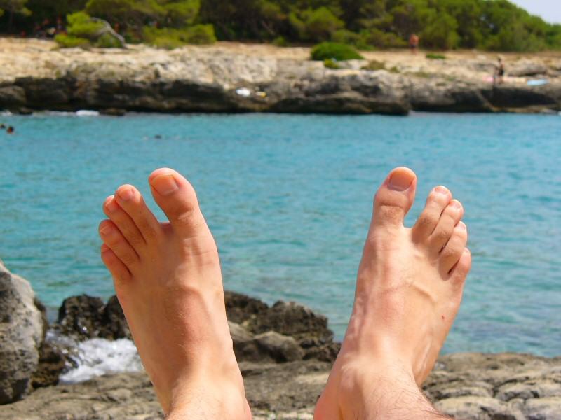 doigts de pieds éventail