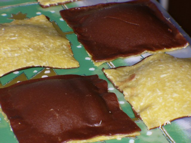 Ravioli au chocolat