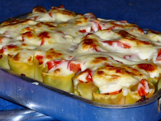 gratin cannelloni chou et provolone